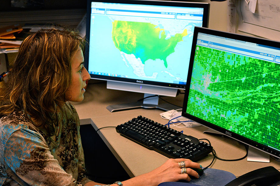 Associate Professor Ayse Kilic studies water resource mapping | photo by Mekita Rivas, UNL School of Natural Resources