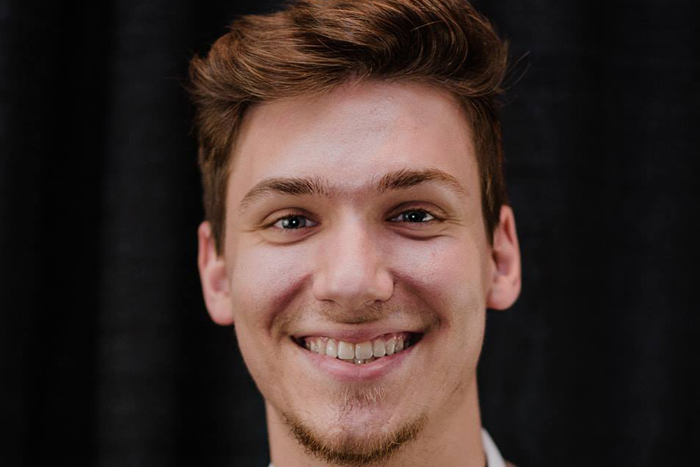 Logan Pettit, first-year Ph.D. student in mechanical engineering