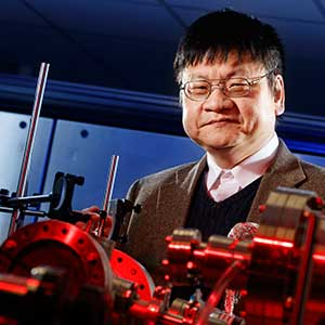 Yongfeng Lu, professor of electrical and computer engineering, received the University of Nebraska's 2017 Outstanding Research and Creative Activity (ORCA) Award.
