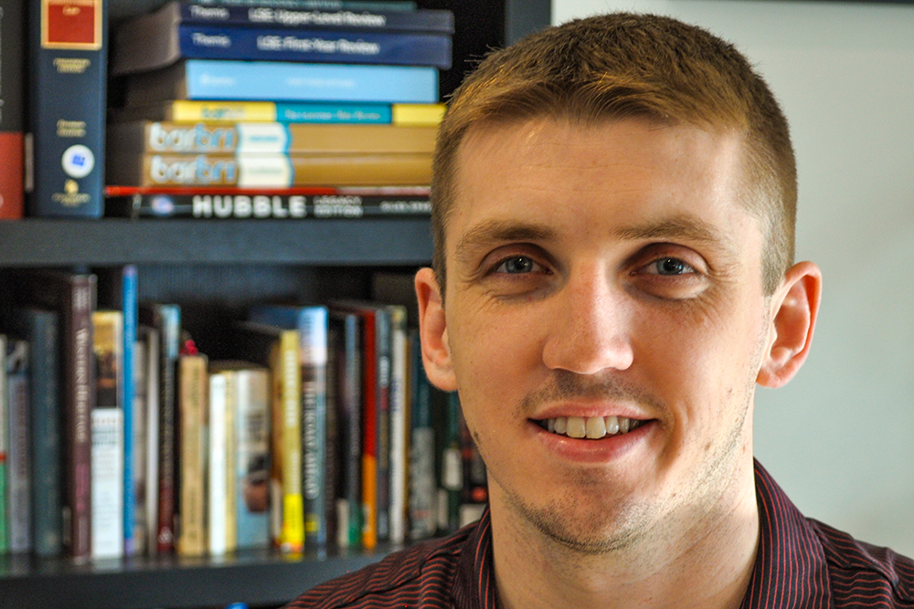 Grayson Minnick, graduate student in mechanical engineering and applied mechanics.