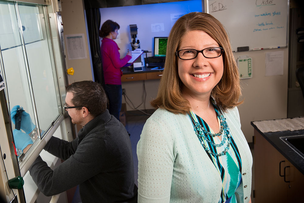 Angela K. Pannier, professor of biological systems engineering, received the Presidential Early Career Award for Scientists and Engineers (PECASE) on July 25.