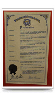 By governor's proclamation, November 5, 2009 is UNL College of Engineering Day in Nebraska