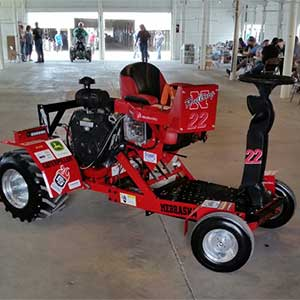 The UNL Quarter Scale Tractor A-team took first overall and the X-team took third at the ASABE International Quarter Scale Tractor Student Design Competition in Peoria, Illinois.