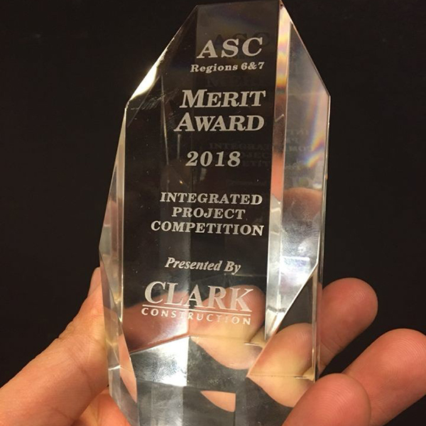 A team of construction management students from The Durham School earned a Merit Award at the ASC Region 6 & 7 National Student Competition in Reno, Nevada.