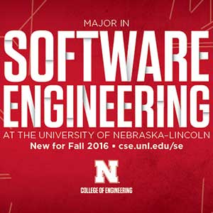 A new software engineering major program will begin at UNL in Fall 2016.
