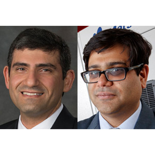 Ali Tamayol (left), assistant professor of mechanical and materials engineering; and Prahalada Rao, assistant professor of mechanical and materials engineering.