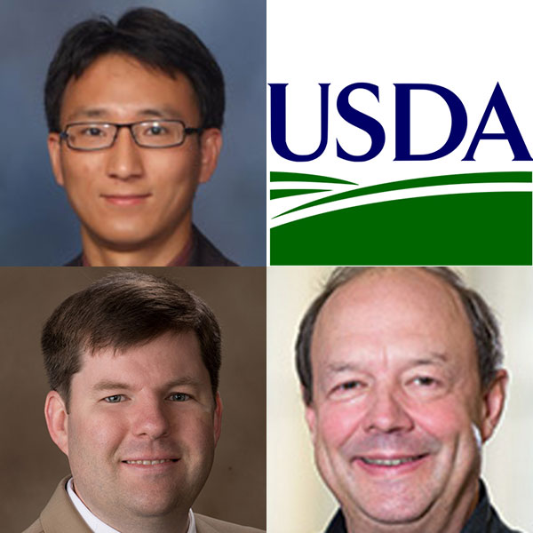Three Biological Systems Engineering faculty - (clockwise from top left) Yufeng Ge, Joe Luck and Christopher Neale - each received one of 17 USDA agricultural technology grants.