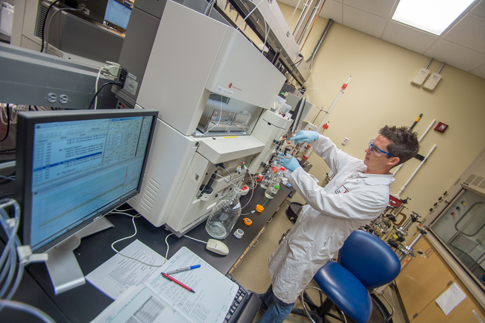 The Biological Process Development Facility, located in Othmer Hall on UNL's City Campus, specializes in process development and GMP (Good Manufacturing Practices) production of recombinant peptides and proteins that are suitable for non-clinical and clinical studies.