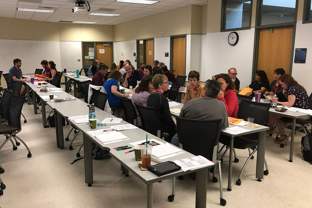 Chemical and biomolecular engineering faculty provided insight into approaches to chemical engineering problems for high school STEM teachers during attended the Chemical Engineering Secondary Education STEM Workshop on June 28.