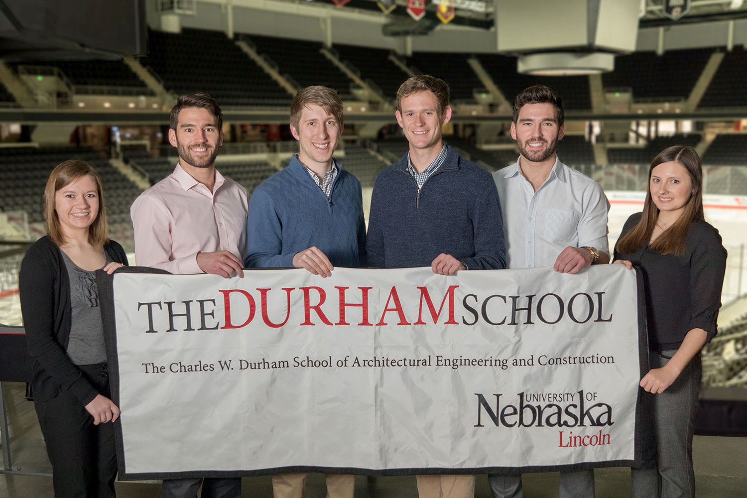 A team of faculty, alumni, and current students from The Durham School, with support from industry volunteers, was awarded the grand prize in the 2016 NCEES Engineering Award competition. One team of the students, pictured above, consisted of (from left) Brianna Brass, Adam Mackenzie, Jacob Clatanoff, Jacob Pulfer, Ben Mackenzie and Katie Gilg.