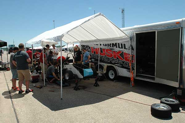 The Husker Motorsports team was just one of 81 teams (66 cars with internal-combustion engines and 15 with electric engines) that competed at the Formula SAE Lincoln event at Lincoln Airpark June 17-20.