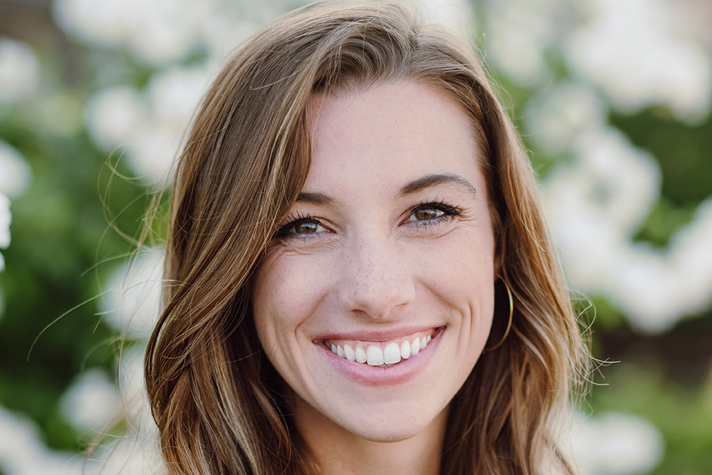 Taylor Kerl, a 2016 mechanical engineering graduate and a systems engineer at Maxar Technologies.