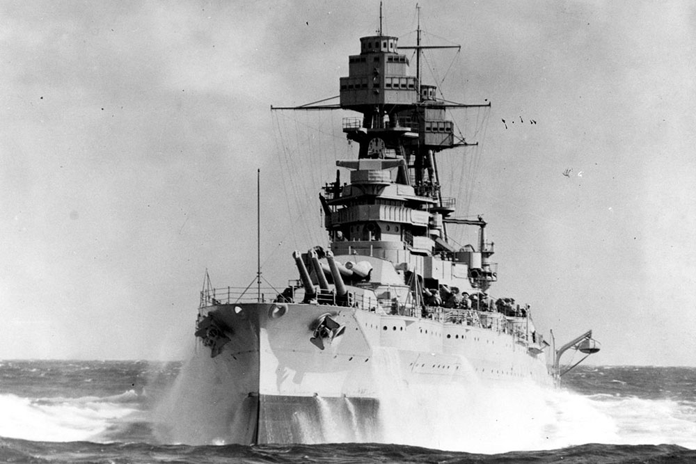 The USS Arizona was one of four battleships sunk during the Dec. 7, 1941 attacks on Pearl Harbor, Hawaii.