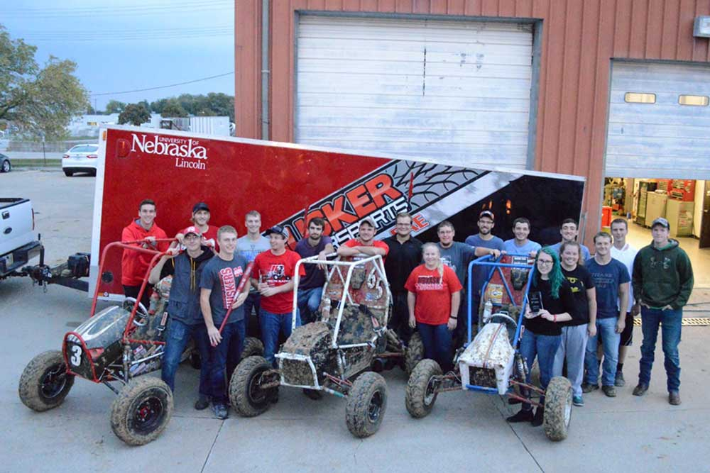 The Nebraska Engineering Baja SAE team entered three cars in the Oct. 1 Midnight Mayhem event in Louisville, Kentucky, and earned five top-10 finishes in four catergories.