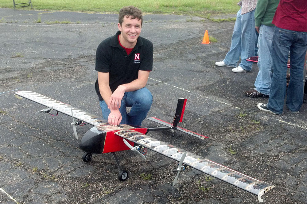 While an undergraduate at UNL, Kyle Hanquist participated in the Design, Build, Fly competition.