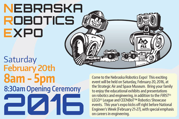 Nebraska Robotics Expo set for Feburary 20 at Strategic Air & Space Museum in Ashland.