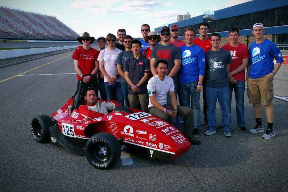 The Husker Motorsports Formula SAE team will be among the more than 100 from universities around the world with cars competing this week at the annual season-ending event at Lincoln Airpark.