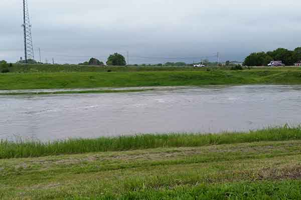 With heavy rains in early June, the water in Salt Creek rose to near flood stage for a second time this spring.