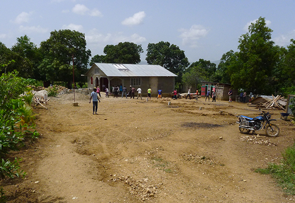 Construction begins on the new Flower of Hope school.