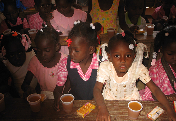 Children at Flower of Hope School get meager amounts of nourishment, but the school is hoping to provide more food for them and their families.