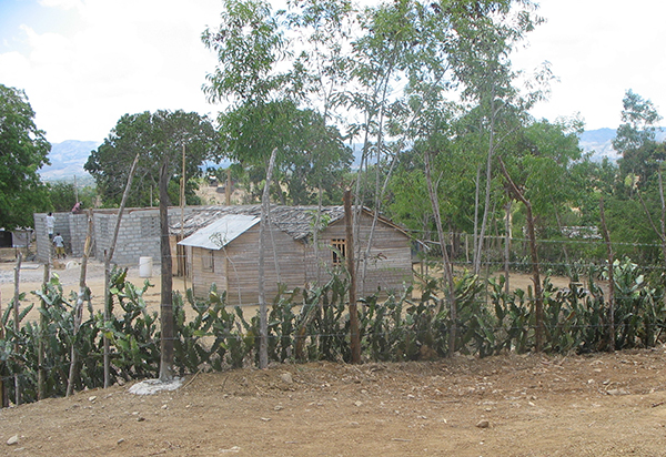 Some of the walls for the new Flower of Hope School are nearing completion.