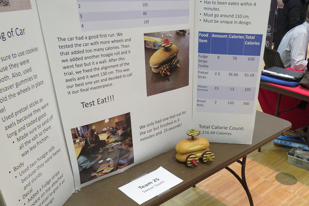 Team Sweet Tooth presented its car and poster during the Edible Vehicle competition on Dec. 5 at the Nebraska East Campus Union.