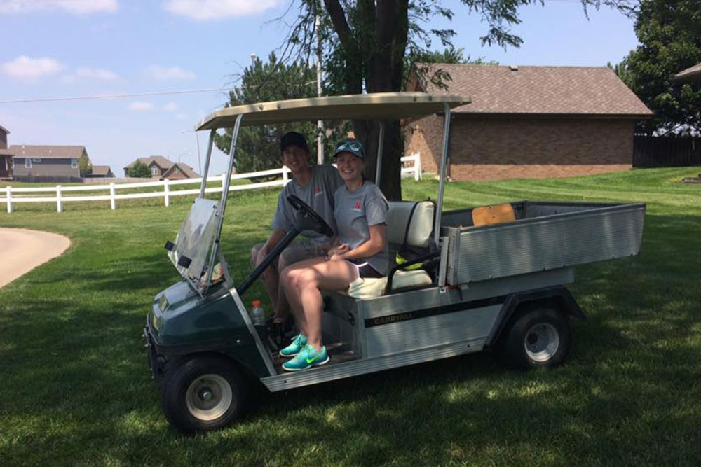 Members of several UNL engineering student groups volunteered to help with the tournament.