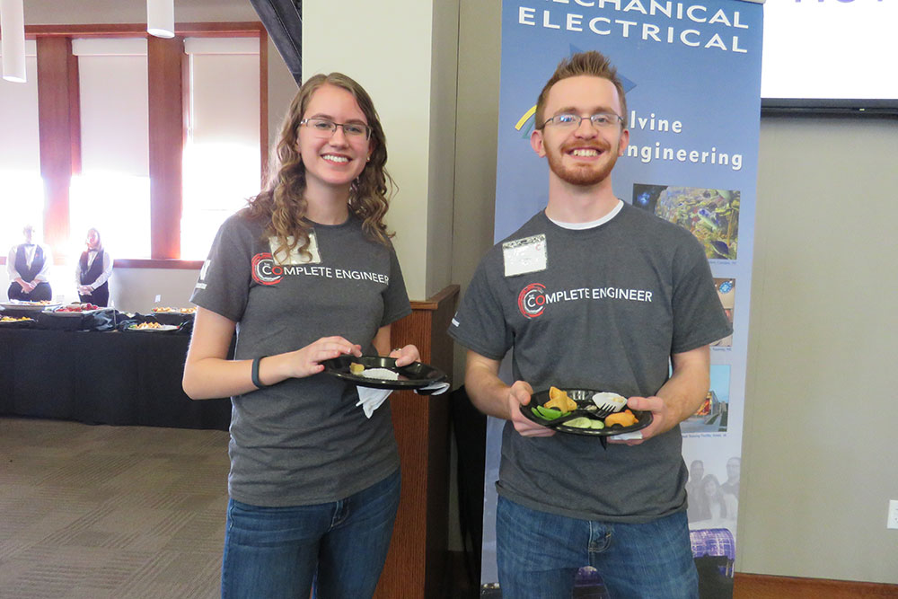 Fourteen Nebraska Engineering students, including some who had attended previous Complete Engineer Conferences, volunteered to help the conference run smoothly.
