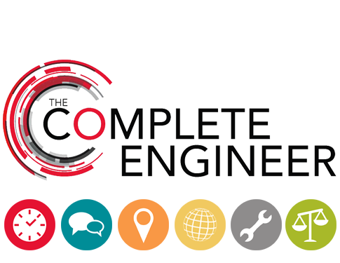 Complete Engineer Logo with Competency icons