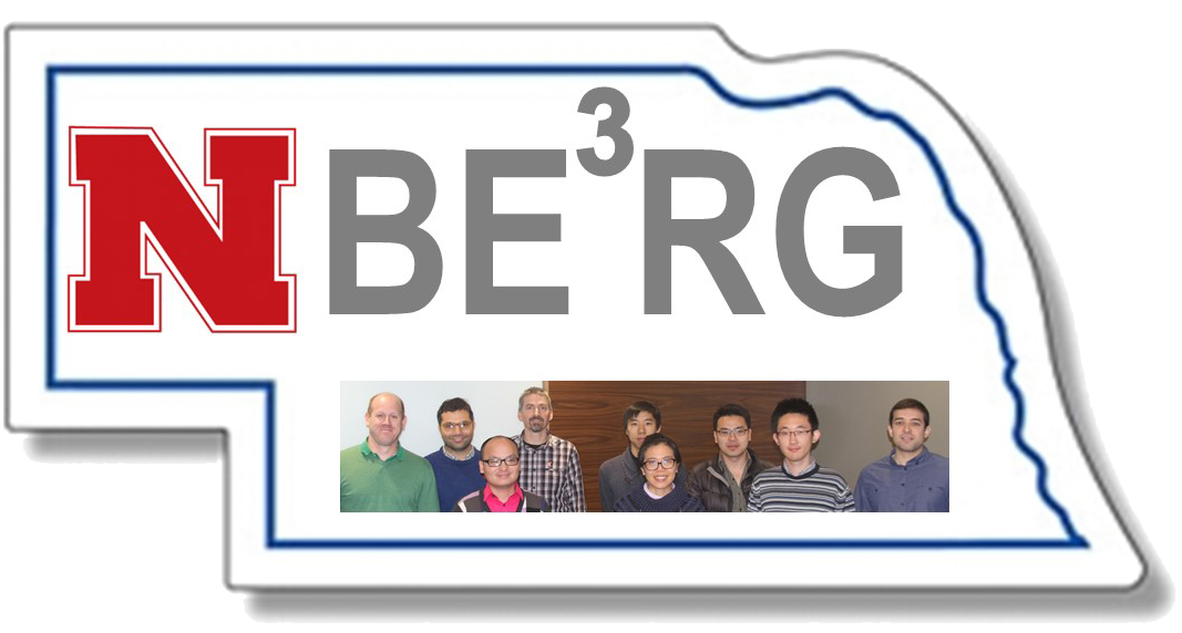 NBERG Logo - State of Nebraska with NBERG and photo of team inside the state borders