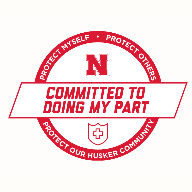 The Cornhusker Commitment: Committed to doing my part to protect myself, others and our Husker community.