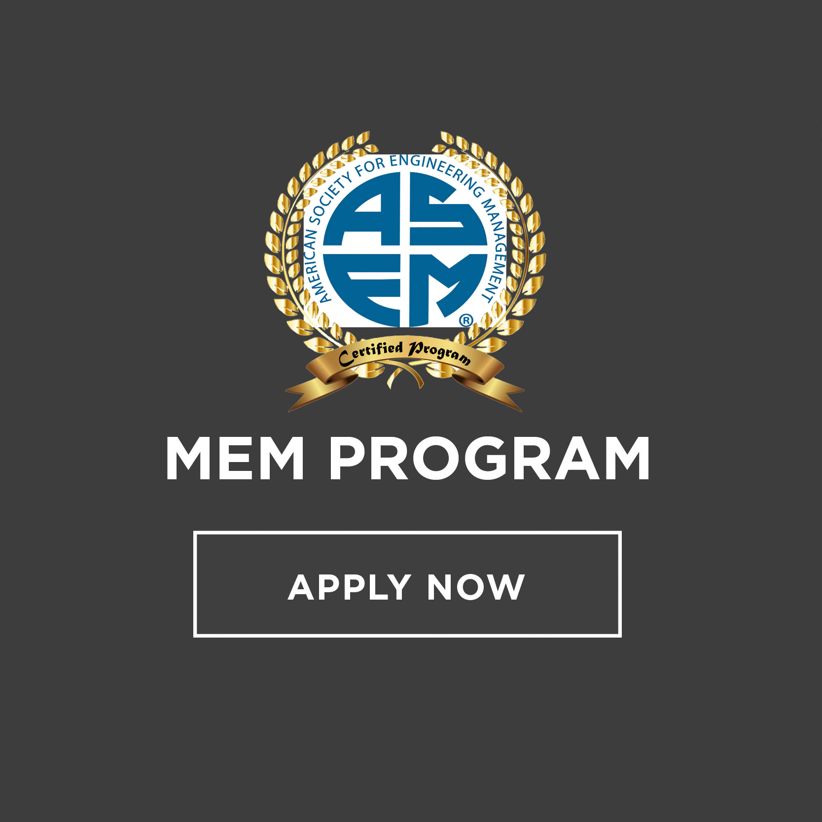 Master of Engineering Management Certification