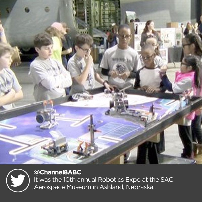 @Channel8ABC  It was the 10th annual Robotics Expo at the SAC Aerospace Museum in Ashland, Nebraska.