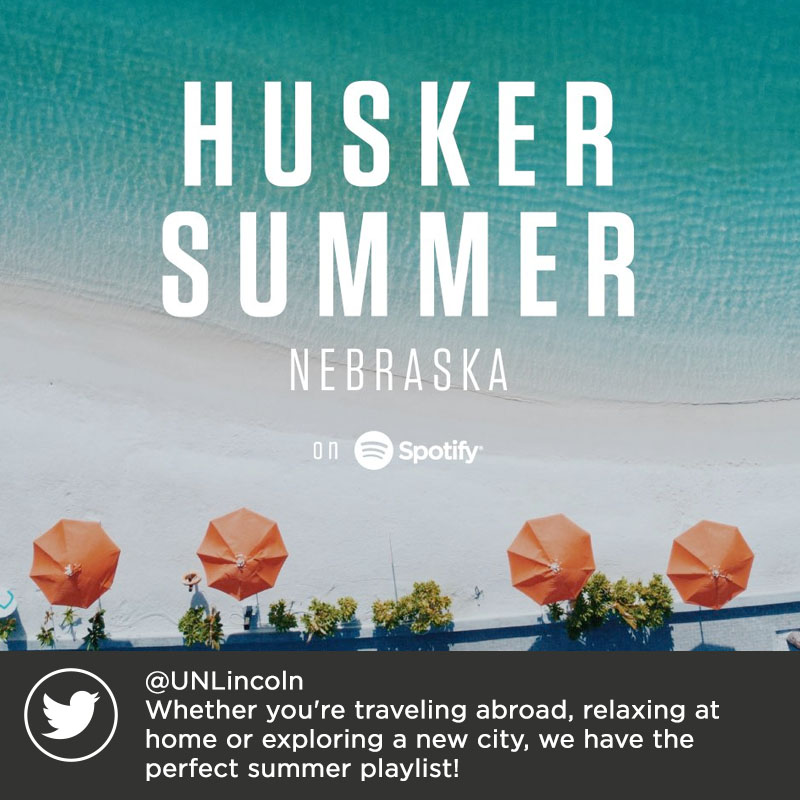 @UNLincoln Whether you're traveling abroad, relaxing at home or exploring a new city, we have the perfect summer playlist!