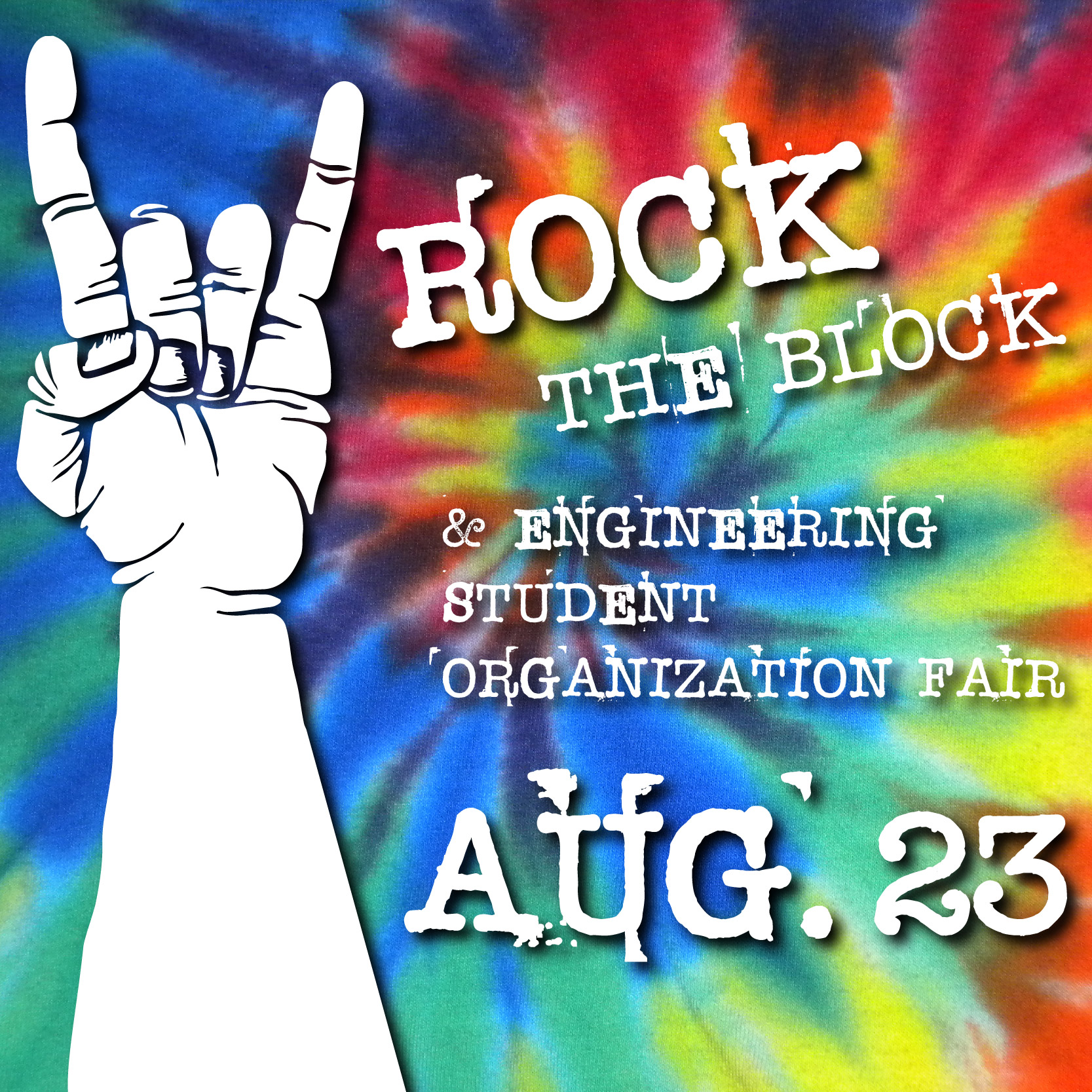 Rock the Block and Student Organizational Fair- Aug. 23