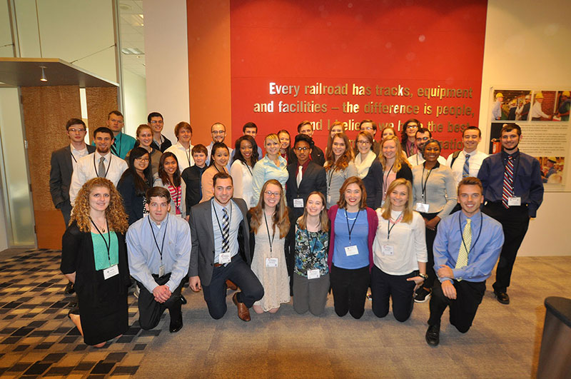 Group photo of the 2016 engineering students attending the conference