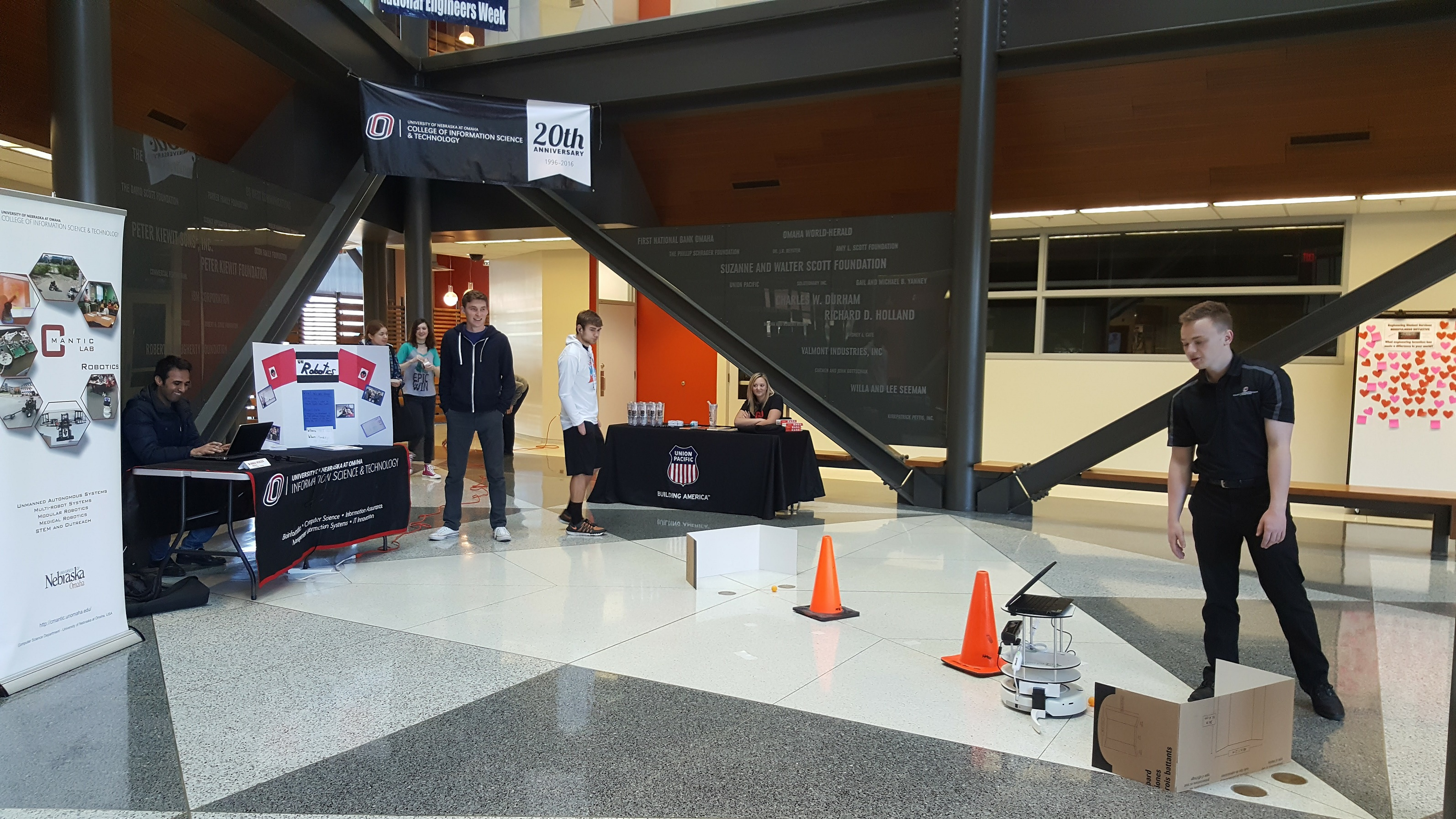 UN Robotics Competition in the Peter Kiewit Institute was supported by Union Pacific as a Diamond Level Sponsor.