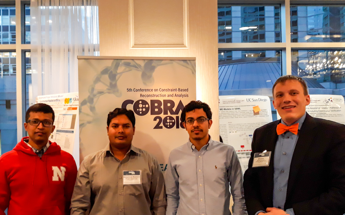 Systems and Synthetic Biology group at the COnstraint-Based Reconstruction and Analysis (COBRA) conference 2018 in Seattle WA