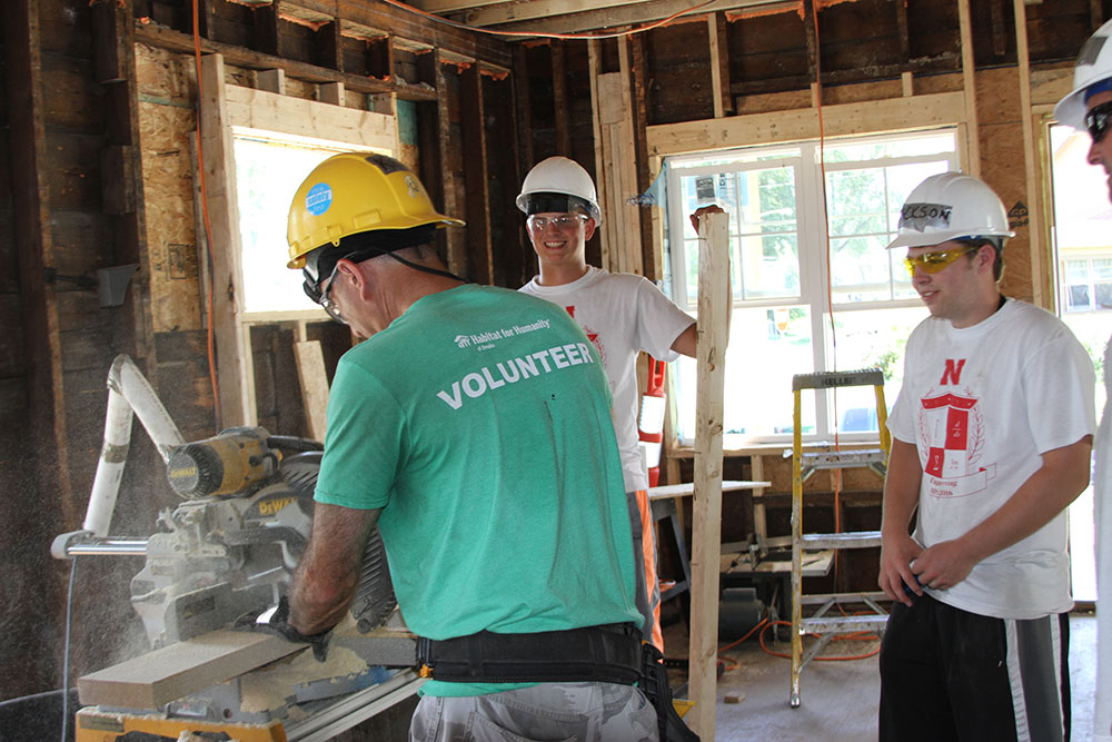 Utilizing skills at Habitat for Humanity Service Project