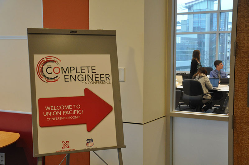 Complete Engineer Conference sign at Union Pacific Headquarters in Omaha, Nebraska