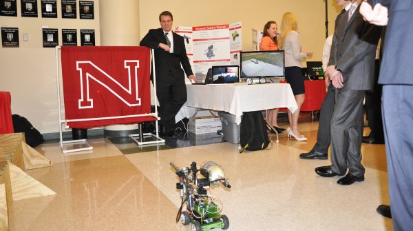 "The UNL College of Engineering's annual E-Day Open House moves to the Nebraska Innovation Campus Conference Center in Lincoln, showcasing the work of current students who are ""Engineering New Horizons"" and show prospective students the many possibilities within the college. This year's event will be held from 9 a.m. to 3 p.m. on Friday, April 17. The event is free and open to the public."