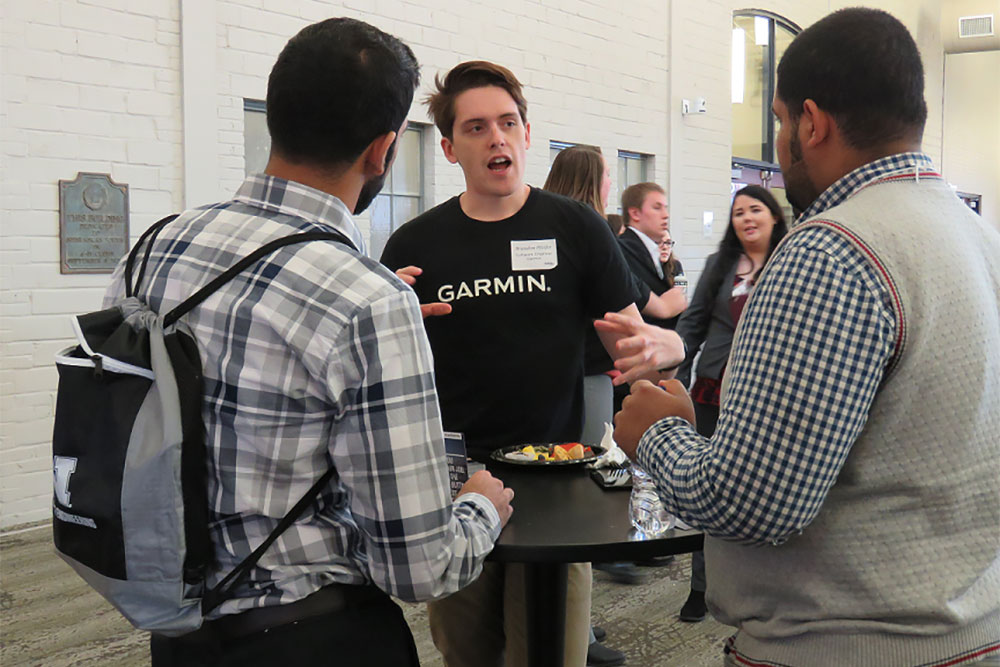 The mixer is a great way to make new connections and learn about internship or job opportunities with industry partners