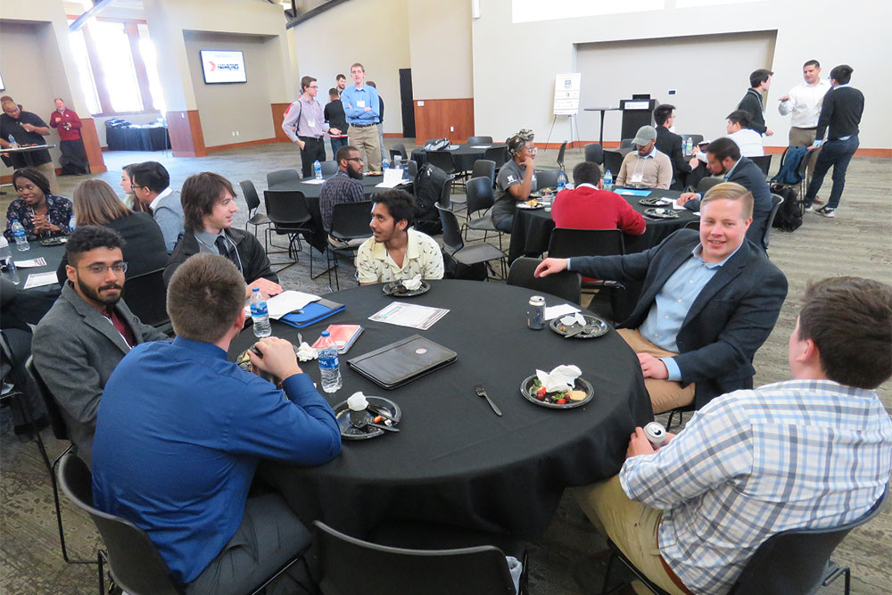 The mixer is a great way to make new connections and learn about internship or job opportunities with industry sponsors