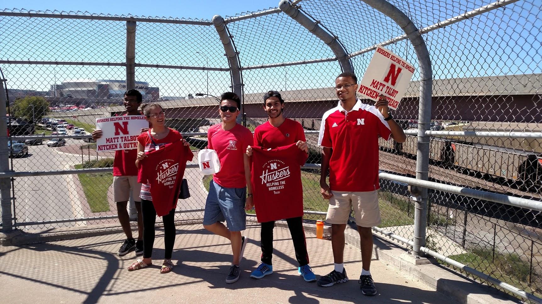 TBP members and initiates raising money