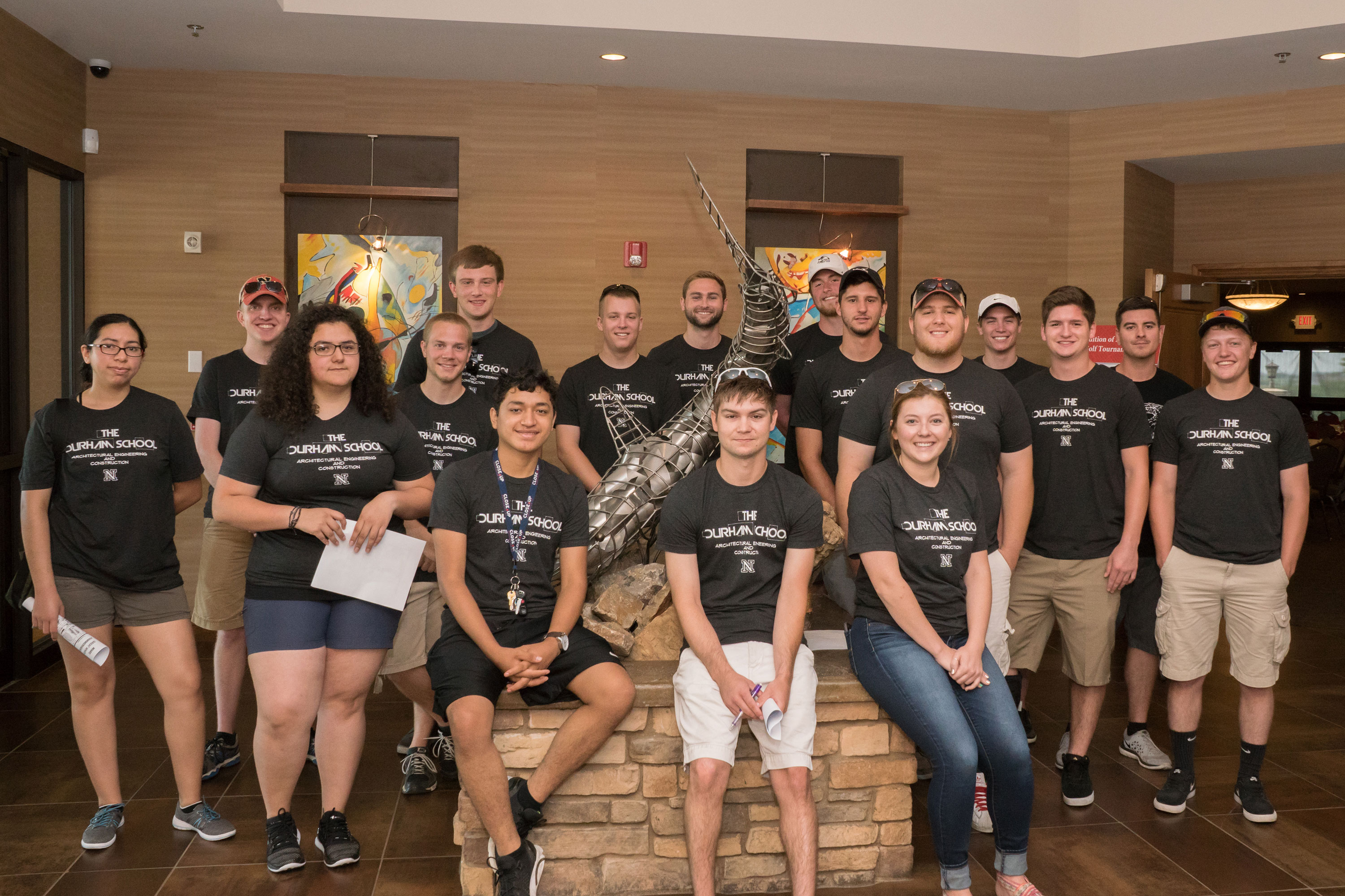"""A group of students from The Durham School of Architectural Engineering and Construction helped make the 2016 """"Tradition of Excellence"""" Golf Tournament a success on July 11 at Tiburon Golf Course."""