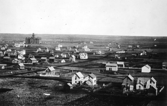 Image of old-fashioned town