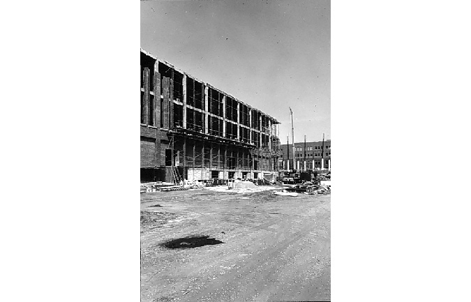 Construction of the NEC building