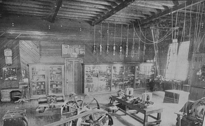 Early laboratory in the EE building from 1904