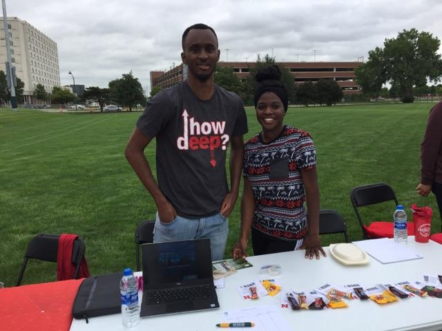 More smiles from Engineering Student Organizations members.
