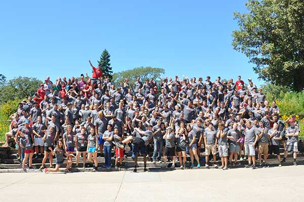 Hundreds of first-year engineering students gathered at Camp Kitaki Aug. 19-20 for the annual N.U.B.E. Camp